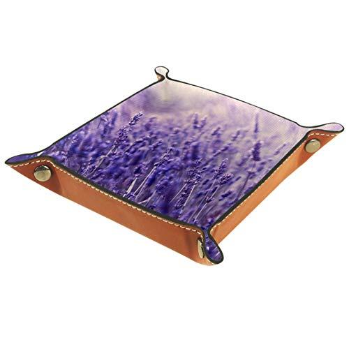 ZDL Lavender- Caja de almacenamiento para llaves, teléfono, moneda, cartera, relojes, etc. 20,5 x 20,5