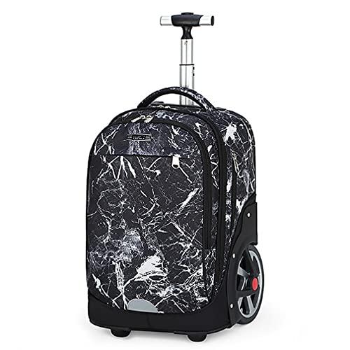 Mochila multicolor con ruedas para equipaje grande, rueda de 18 cm, puede subir escaleras, para viajes, trabajo, escuela, portátil, mochila, B - 4, 51x32x25cm, Maletas con ruedas