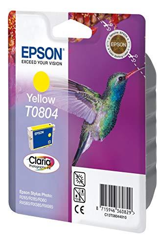 Epson C13T08044011 - Cartucho de tinta, amarillo válido para los modelos Stylus Photo RX685, RX585, R285, PX830FWD, PX650, P50 y otros, Ya disponible en Amazon Dash Replenishment