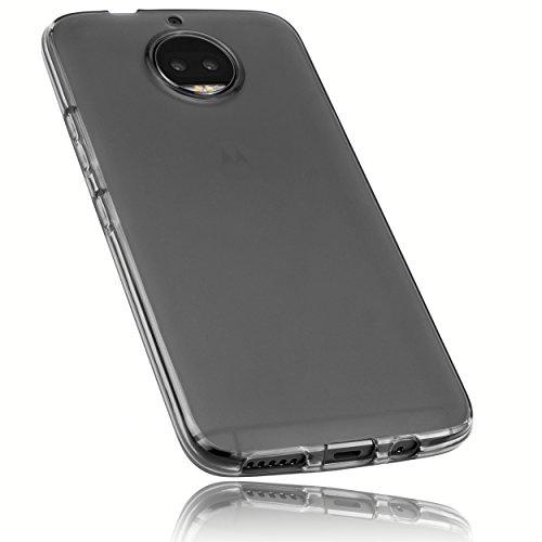 mumbi Hülle kompatibel mit Motorola Moto G5S Plus Handy Hülle Handyhülle, transparent schwarz