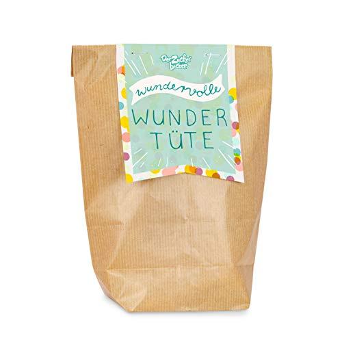 Wundervolle Wundertüte, mit einem bunten Süßigkeiten-Mix aus der Kindheit, 200 Gramm, verpackt in toller Geschenktüte, tolle Überraschung
