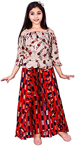 Girls Party Wear Top Skirt Maxi Dress Red Black 10 11 Years