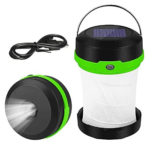 unknows Luces Plegables, Desconocidas Linterna De Camping LED con Solar Linterna De Camping LED Plegable Portátil Recargable con Solar Solar Y USB Lámparas De De Campaña Solares