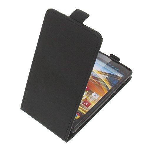 foto-kontor Tasche für Archos 50 Neon Flipstyle Silikon Inlay Schutz Hülle schwarz