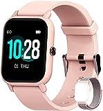 Blackview R3 Smartwatch, Reloj Inteligente Mujer - Oxímetro de Pulso (SpO2)   Esfera de Reloj de DIY   Pulsera Actividad Inteligente Caloría   Smartwatch Mujer para Android e iOS (Versión Mejorada)