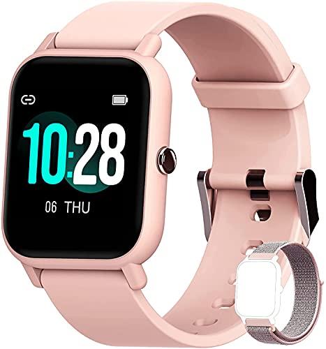 Blackview R3 Smartwatch, Reloj Inteligente Mujer - Oxímetro de Pulso (SpO2) | Esfera de Reloj de DIY | Pulsera Actividad Inteligente Caloría | Smartwatch Mujer para Android e iOS (Versión Mejorada)