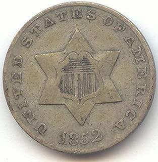 1852 Three-Cent Silver Very Fine