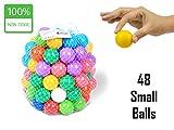 EEVOVEE 48pcs Colorful Baby Toy Balls for Kids / Pool Balls Premium Quality