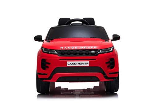 TOYSCAR electronic way to drive Auto Macchina Elettrica Range Rover Evoque 12V per Bambini Porte apribili con Telecomando Full Accessori (Rossa)