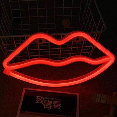 Gwill Neonlicht - Lámpara LED Decorativa de Mesa, luz Nocturna, Pared con batería y alimentación USB para la decoración Interior de la Boda de cumpleaños