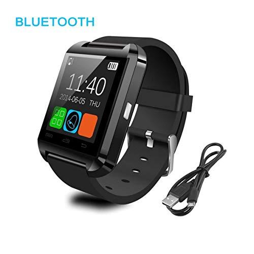 Heaviesk Bluetooth-Uhr-Stahl + Silikon-Sport-intelligente Armbanduhr-Telefon-Kamerad U8 Bluetooth V3.0 + EDR für iPhone IOS-System