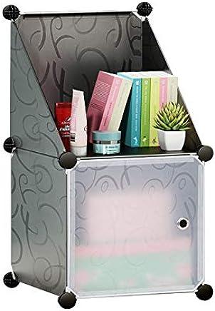 Cubic Cabinet, Grey - H 76 cm x W 37 cm x D 37 cm