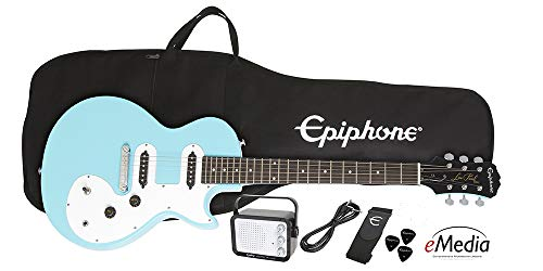 Epiphone Les Paul SL Starter Pack (Includes Mini Amp, Gigbag, Tuner, Picks, and Strap), Pacific Blue