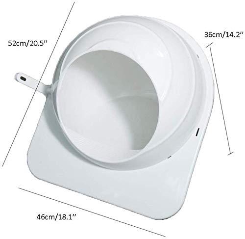 LGFSG Toilette per Gatti Lettiera per Gatti Cassetta per lettiera con entrata Superiore Prevenzione degli Schizzi Deodorazione Gatti Toilette con lettiera per Animali Domestici, Bianco