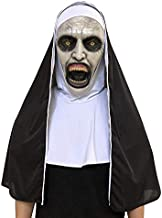 Nun Mask Cospaly Costume Horror Scary Full Head Latex Masks Halloween Party Props (B)