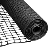 Houseables Dog Fence, Garden Fencing, 4' x 50', 1 Pack, Plastic, Black, Mesh, Poultry Netting, Animal Barrier, Temporary Fences, for Above Ground Pool, Pet, Deer, Chicken, Snow, Dogs, Rabbit, Safety