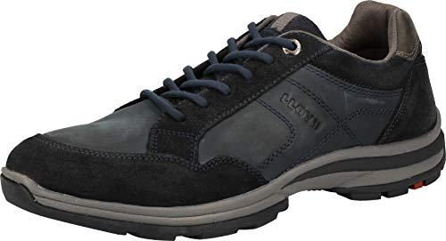 LLOYD Herren Low-Top Sneaker EFRAT, Männer Sneaker,Variofootbed, strassenschuh schnürer schnürschuh sportschuh maskulin,Navy/Asphalt,7.5 UK / 41 EU