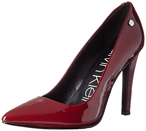Calvin Klein Women's Brady Pump, Red Rock Patent, 7.5