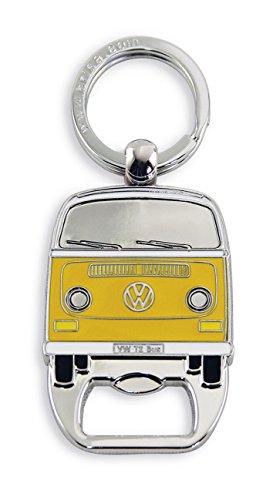 Brisa VW Collection - Volkswagen Hippie Bus T2 Camper Van Anello Portachiavi Retro con Apri-Bottiglie, Decorazione Vintage per Mazzo di Chiavi/Zaini/Borse Come Souvenir/Idea Regalo (Arancio)