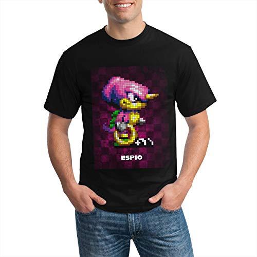 Es-PIO V1.0 Camiseta de Moda de algodón de Manga Corta para Hombre BlackSmall Black