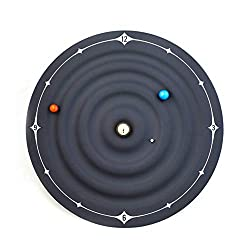LARRY-X Galaxy Planets Magnetic Clock Creative Stylish Wall Clocks 8.6 Inch Modern Simple Decorative Table Clock Ideal for Office Home Bedroom Living Room Decor