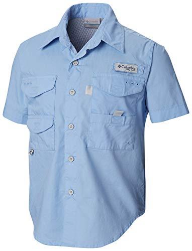 Columbia Boy's Bonehead Short Sleeve Shirt (Youth), White Cap, Large