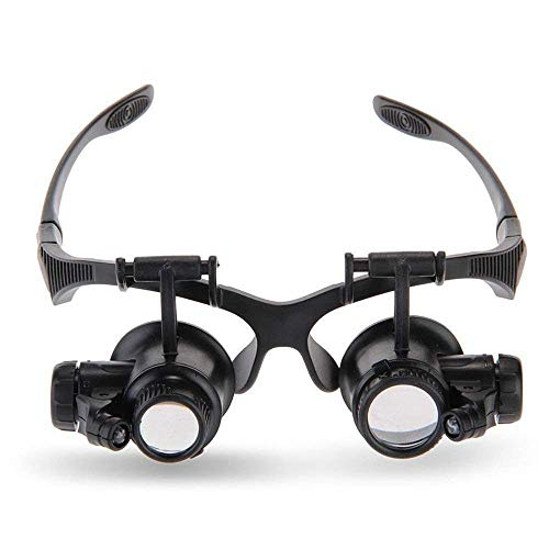 Magnifying Glass Jewelers Loupe Headband Magnifier 10X 15X...