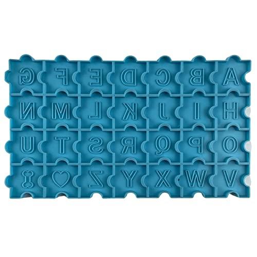 yubin Forma del abecedario de resina, juego de tablero, juego de rompecabezas, molde de resina, pendientes y llavero, forma decorativa, herramienta de ortografía para niños pequeños