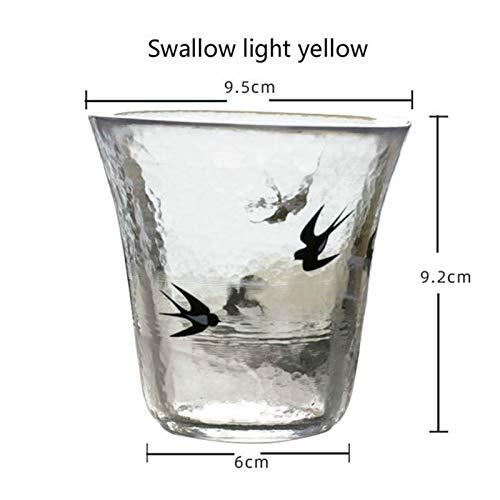 BENGKUI WUWENJIE Copa de Cristal de Cristal de Cristal de Dibujos Animados Creativo Copa de Vino de Vidrio de Vidrio Halo de Vidrio de Vidrio de Agua para Vino Whisky Agua de café