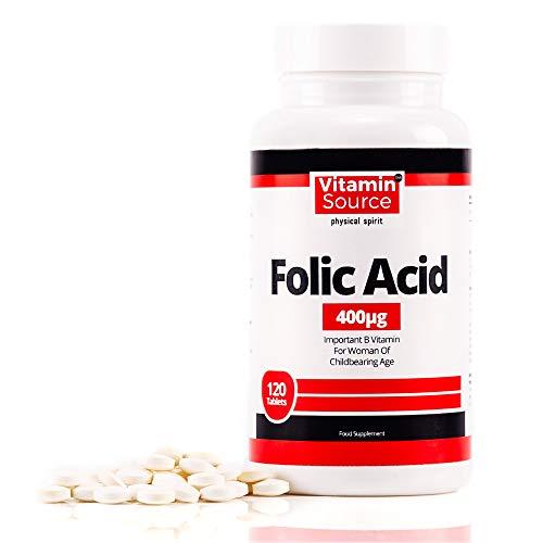 No.1 Folic Acid Womens Health Tablet 400mcg Vegan Folic Acid Supplement Tablets