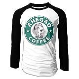 BilliePhillips Ahegao Coffee Mens Gift Long Sleeve Raglan Baseball Tee Shirt XXL