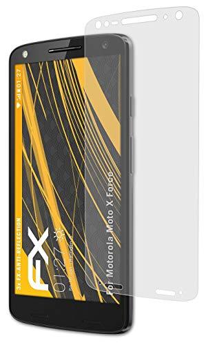 atFolix Panzerfolie kompatibel mit Motorola Moto X Force Schutzfolie, entspiegelnde & stoßdämpfende FX Folie (3X)