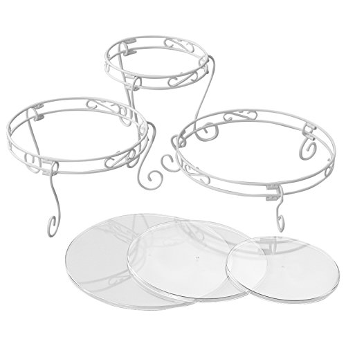 Wilton Weißes Verschnörkeltes Torten- und Dessert-Ständer-Set, Hochzeitstorten-Ständer