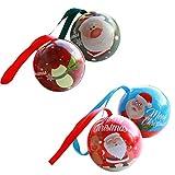 ABOOFAN - 4 piezas de hojalata de Navidad para árbol de Navidad, bolas de hierro, colgante desmontable para regalos de Navidad, decoración del árbol (color al azar)