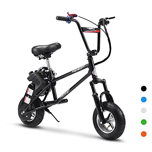 """Gas Motorized Scooter for Adults and Kids - 2 Stroke Gas Mini Bike, Front Suspension with Range Up to 10~20 Miles, 11"""" Air-Filled Ties (Black)"""