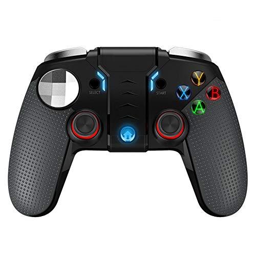JIN - Controlador de juegos Bluetooth para comer artefacto de pollo, doble motor, botón turbo con dispositivo telescópico, teléfono inteligente, tableta /televisor/ decodificador/PC/PS3 host