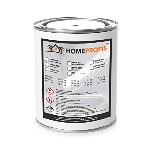 Home Profis® HPSM-100 Feinspachtel auf Epoxidharz Basis (0,75kg) Spachtelmasse Füllspachtel Reparaturspachtel GFK Holz Beton Estrich Autoreparatur Bereichsausbesserung