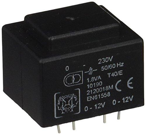Perel 139098 Print Transformateur, 1.8 VA, 2 x 12 V, 2 x 0.075 Amp