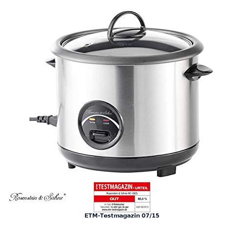 Rosenstein & Söhne Reistopf: Edelstahl-Reiskocher 1,5 Liter (Rice Cooker)