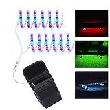 DANCRA Led Strip Batteriebetrieben Für Skateboard Longboard Elektro Scooter, 0.8M*2 R/G/B Farbwechsel Led Band Batterie Mit 3-Tasten-Controller, LED Lichtband Lichtschlauch