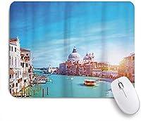 VAMIX マウスパッド 個性的 おしゃれ 柔軟 かわいい ゴム製裏面 ゲーミングマウスパッド PC ノートパソコン オフィス用 デスクマット 滑り止め 耐久性が良い おもしろいパターン (ヴェネツィア大運河と晴れた日の観光地の敬礼聖堂)