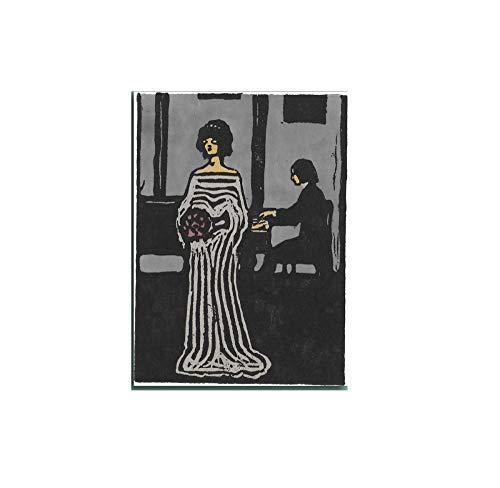 LTXMZ Wassily Kandinsky Salon De Decoracion Marco De La Cuadro Abstracto Chica Pintura Abstracto Pared Arte para Moderno Salon Cantante Recamara Cuadros 40x60cm No Cartel