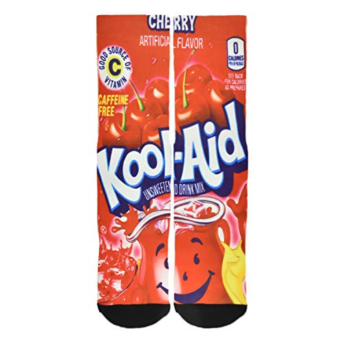 Seorsok Men's Novelty Socks Colorful Fun Cool 3D Print Sports Crew Tube Socks - C-kool Aid