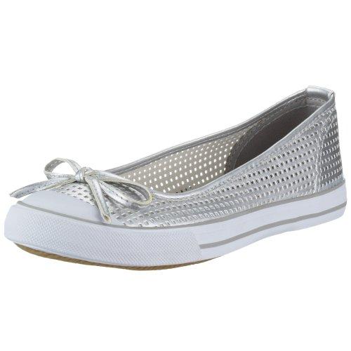 Dockers by Gerli 243010 Chaussures de Ballerines pour Femme Argenté Taille 36 - - argenté, 40 EU