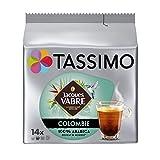 Tassimo Café Dosettes - 70 boissons Jacques Vabre Colombie (lot de 5 x 14 boissons)