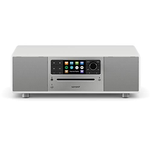 sonoro Prestige Kompaktanlage mit Internetradio, CD Player und Bluetooth (Stereoanlage, UKW, WLAN, DAB Plus, Spotify, Amazon, Deezer, Tidal, USB) Weiß