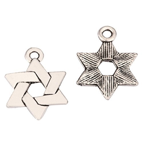 20 x Celtic Knot Charms 13mm Antique Silver Tone | One Sided Charm Pendants for Gemstone Necklace Bracelet Earrings Keychain Mala Yoga Jewelry Craft Making MCZ1132