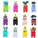 FATIZONE 12pcs PVC Toys Action Figures Set | Mini Game Figures Desk Character Model Toys, Cake Decorations Impostor