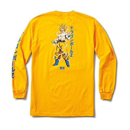 Primitive Skateboards X Dragon Ball Super Saiyan Goku MALS Tee Gold Medium