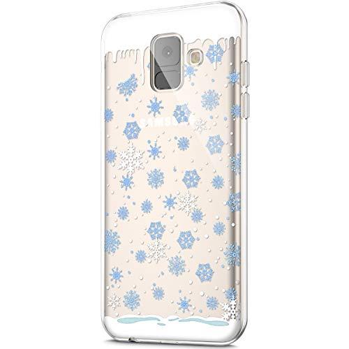 Funda Compatible Samsung Galaxy A8 Plus 2018.Carcasa Case Cover KunyFond Silicona Transparente...